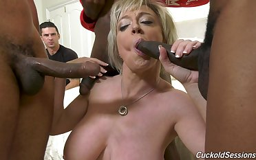 Stupendous interracial gangbang be fitting be beneficial to whore be beneficial to a wife Dee Williams