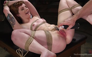 Enslavement until the orgasm for the obedient ginger whore