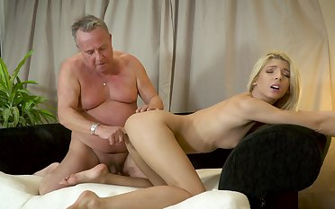 Missy Luv loves to feel his old cock going deep down the brush throat