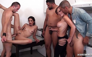 Slutty babes premised to sex - office orgy