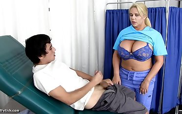 Karen Fisher - Hot Motor coach Nurse Cures Blue Balls