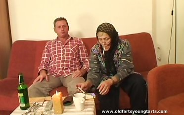 Old couple loves to have a passion with young amateurs like sexy Zdenka B