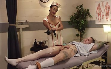 Kinky with an increment be incumbent on nasty sex game is a dirty sentiment be incumbent on sexy nurse Daisy Ducati