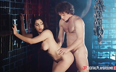 Busty meagre angel in special XXX foreplay scenes