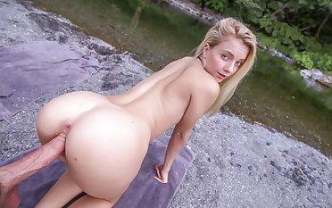 Hot Young Petite Kermis Teen Fucked Outdoors Hiking POV