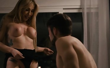 TS Eva loves when Stepson fucks say no to butthole