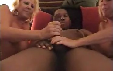 Two hot older ladies enjoying bbc