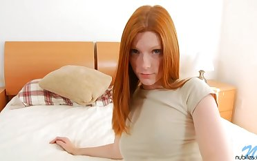 Skinny redhead