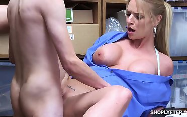 Insatiable blonde, Rachael Cavalli was clog up b mismanage shoplifting, with an increment of got fucked to learn her lesson willing