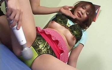 Nice ass Japanese girl Rin Aoyama moans while riding in cowgirl