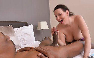 Hardcore interracial fucking with mature pornstar Annabelle More