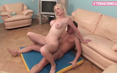 Blond Opulence Teen knows how to feel sorry you cum