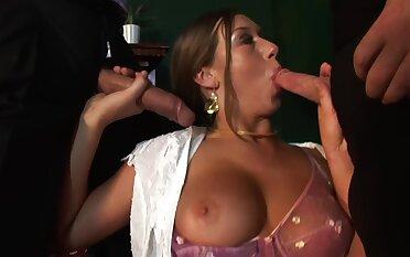 MMF triumvirate with anal loving professional escort Gabriela Glazer