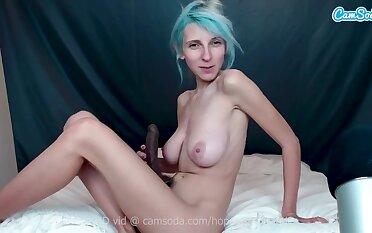 Big Tits Hopelesssofrantic Titty Fucks Myself With Say no to Big Dildo