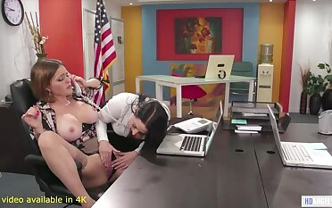 Angela tries out Applicants Abella Danger and Krissy!