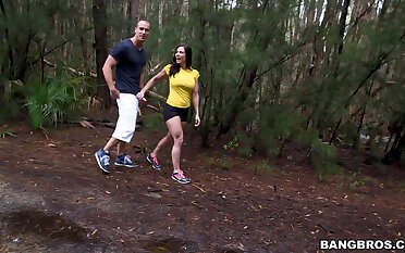 MILF Kendra Lust plays adjacent to her fake boobs during gone from intercourse