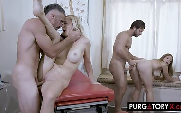PurgatoryX: Oily Clinic with Skylar Snow with an increment of Paisley Porter