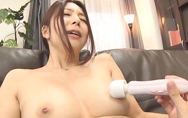 Ichijou Kimika moans while her husband pleasures her pussy