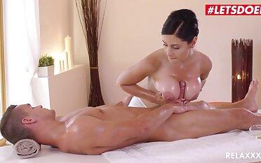 Hardcore message - Alex Black Busty Oiled MILF Erotic Massage Titfuck
