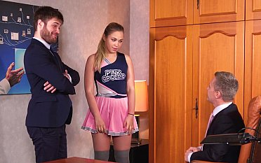 Dirty threesome in the principal's office
