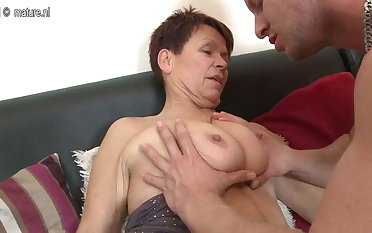 Old granny fucking her young toy boy