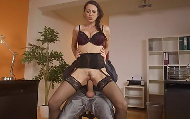 Strong ass fucking romance with the secretary