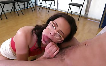 Sexy Alex More ends naughty oral play with a great facial