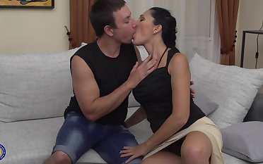 Horny brunette mature amateur wife Giorgia gets fucked hard