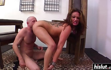 Unlucky cadger gets to get laid Tory Lane until he cums surpassing her round booty - tory lane