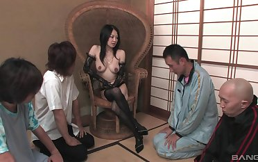 after pussy licking a big vibrator is all go wool-gathering Sayoko Machimura wants
