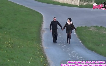 German old granni outdoor fuck