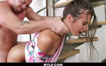 Super Hot mummy is getting porked from the back, to the fullest her hubby is uppish way home