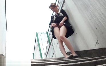 Two-faced asians public piss