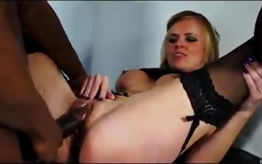 Sexual interrogation with an increment of sucking cock - interracial sex
