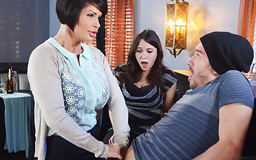 Horny mom ask pardon a gift to their way wet pussy