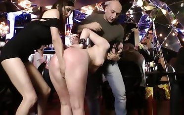 Russian floozy anal fisted fro public bar