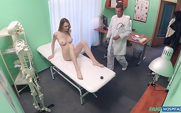 Bell Claire gets fucked by hard doctor's boner on the hospital's bed
