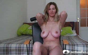 Dazzling girlfriend records herself while she's masturbating