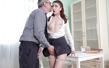 Nice sophomore partisan Alita Angel loses anal virginity with old teacher